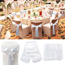 10/50/100pcs Satin Chair Cover Sash Bow  Wedding Xmas Party Chair Ties Wholesale