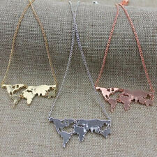 Personality Hot World map Combination Pendant necklace New Fashion Exaggerated