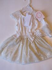 NWT Camilla Dress w/ Headband & Bloomers Baby Girl Infant Easter Outfit
