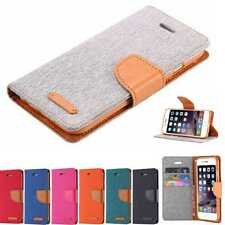 Magnetic Wallet Leather Case Card Slot Flip Pouch Stand Cover For iPhone Samsung