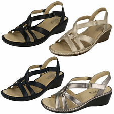 Ladies Eaze F3111 Synthetic Wedge Sling Back Sandals