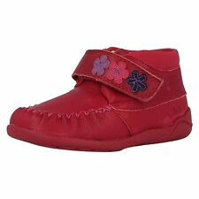 Clarks Girls Litzy Fleur Fst Berry Leather Strap Ankle Boots