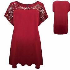 INP Shop 16 18 20 22 24 26 28 30 32 Jersey Evening Top Sequin Trim Plus Size New