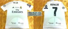 Real Madrid Champions League Final 2016 Ronaldo Ramos Kroos Home Shirt Jersey*ML