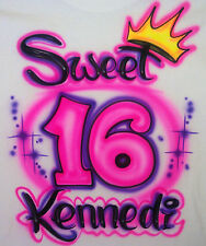 Airbrushed Personalized Sweet 16 Birthday Party T-shirt Hoodie Pillowcase