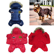 Pet Dog Warm Clothes Winter Jumpsuit Track Suit Puppy Hooded Jacket New Trendy