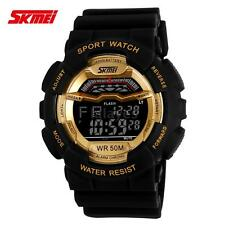 SKMEI LCD Digital Military Quartz Waterproof Men Boy's Sport Wrist Watch W8Z9