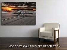 Canvas Print Picture Propeller airplane Sunset  / Stretched -ready to hang