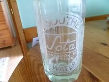 Vintage Glass Soda Siphon by SOTA  The Southern Table Water Co. Ltd. Southsea