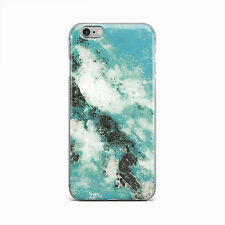 Blue Ocean Water Cracked Marble Hard Case iPhone 4 4S 5 5S 5c SE 6 6S Plus iPod