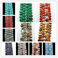 Excellent Mixed Gemstone Teardrop 18x13x6mm Loose Beads 1Strand/29Pcs U315