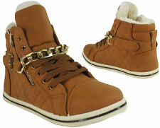 LADIES FUR GRIP SOLE WINTER ANKLE WARM WOMENS BOOTS TRAINERS SHOES UK SIZE-3, 4