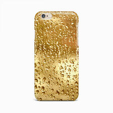 Gold Rain Drop Water Hard Case Cover For iPhone 4 4S 5 5S 5c SE 6 6S Plus iPod