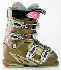 Used $500 Womens HIGH END Head Edge 10 Ski Boots Ladies Size USA 6 Mondo 23.5