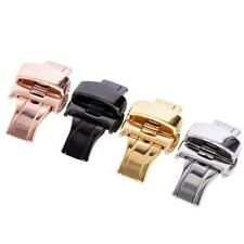 Stainless Steel Butterfly Push Button Deployment Watch Band Buckle Clasp 4Colors