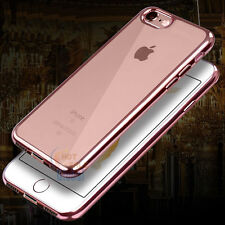 Luxury Ultra Thin Clear Plating TPU Soft Case Cover for Apple iPhone 7 / 7 Plus