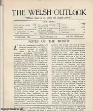 THE WELSH OUTLOOK. A MONTHLY JOURNAL OF NATIONAL SOCIAL PROGRESS. FEBRUARY, 1924