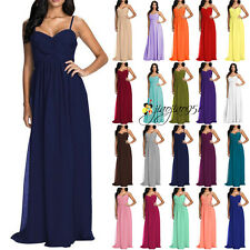 2016 Stock Long Cheap Formal Bridesmaid Dress Evening Prom Party Ball Gowns 6-18