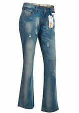 Ladies New Ex High Street Distressed Jeans Bootcut Design Casual Denim Trousers