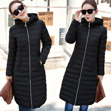 Hot Women Winter Trench Coat Warm Down Cotton Parka Padded Long Jacket Overcoat