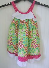 Penelope Mack Penny M Dress Girls Pretty GREEN Bright Pink WHITE Floral Dress