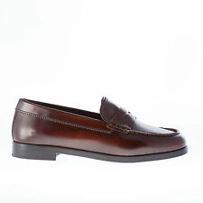 STRIKE FIRENZE women shoes Brown brushed leather penny loafer