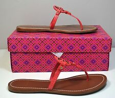 NIB WOMENS TORY BURCH MELON MINI MILLER FLAT THONG FLIP FLOP SANDALS SIZE 8.5