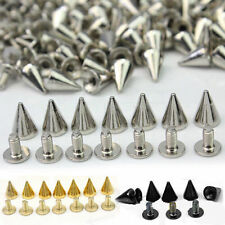 Rivet Spots 100 Cone Trendy Screw Spikes Silver 10MM Bullet PCS BGBU Metal Studs