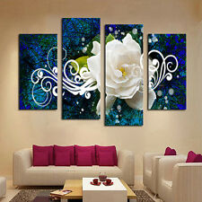 4X Seaside Floral Oil Painting Pictures Living Room Wall Art Home Decor Sweet