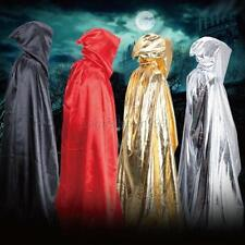 Adult Long Hoodie Hooded Cloak Cape Vampire Witch Wicca Halloween Costume Decor