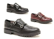 women's shoes oxford double strap black monk slipon made in ITALY