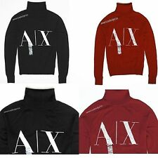 ARMANI EXCHANGE NEW WOMEN WOOL BLEND LOGO SWEATER,BLACK AND RED NWT,RETAIL$98.50