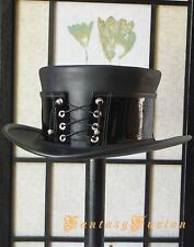 Steampunk Hat Corset Gothic Flash Leather Top Hat