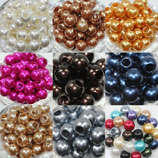 10Pcs Lucite Resin Pearl Spacer Loose Beads Charms DIY Bracelets Jewelry 12mm