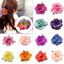 1pcs Hair Clip Bridal Wedding Party Women New Bridesmaid Rose Flower Hairpin