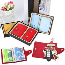 2PC Key Holder PU Leather Package Key Case Wallets Credit Card 24 Card Holder