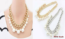 NEW Fashion Exquisite Thick Chain Big Pearl Lady Beautiful Necklace