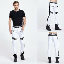 Men's Fashion Slim Fit Sports Training Army Straight Harem Trousers Biker Pants