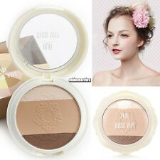 Box Pressed Three Colors Face Makeup Powder for All Skin Makeup Powder ONMF