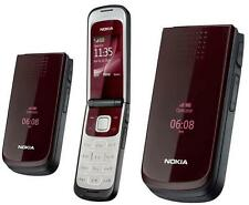 Brand New Nokia 2720 Red Flip Big Button Unlocked Mobile Phone Complete Box