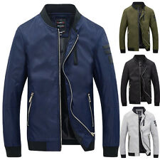 Stylish Men's Fashion Slim Fit Casual Baseball jacket Coat Tops Warm Outerwear