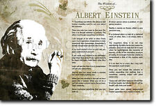The Wisdom of Albert Einstein - Original Poster Featuring Iconic Quotes