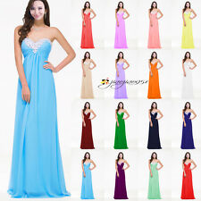 New STOCK Formal Evening Prom Party Ball Gown Long Wedding Bridesmaid Dress 6-20