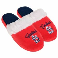 St Louis Cardinals Womens Colorblock Fur Slide Slippers MLB New Style