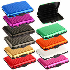 Aluminum Metal Waterproof Wallet Holder Business ID Credit Card Pocket Case Box