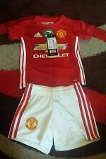 authentic manchester united home baby kit 6-9 months