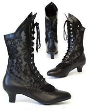 Gothic Victorian Steampunk Vintage Boots Burlesque Cancan Wedding Lace