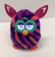 Hasbro Furby Boom 2012 Orange, Pink & Blue Striped Very Nice Used Tested Working