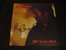 """Ry Cooder In Person Signed """"The Slide Area"""" Vinyl Cover (Promo Copy) W/LP & COA"""