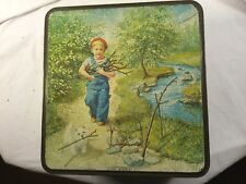 The Optimist biscuit tin by McVitie & Price Gathering Wood Vintage Biscuit Tin